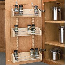 Cabinet Accessories - Adjustable door mount spice rack.