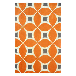 "nuLOOM - Contemporary 7' 6"" x 9' 6"" Deep Orange Hand Tufted Area Rug Trellis BC55 - Made from the finest materials in the world and with the uttermost care, our rugs are a great addition to your home."