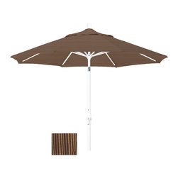 California Umbrella - 9 Foot Olefin Fabric Aluminum Crank Lift Collar Tilt Patio Umbrella, White Pole - California Umbrella, Inc. has been producing high quality patio umbrellas and frames for over 50-years. The California Umbrella trademark is immediately recognized for its standard in engineering and innovation among all brands in the United States. As a leader in the industry, they strive to provide you with products and service that will satisfy even the most demanding consumers.