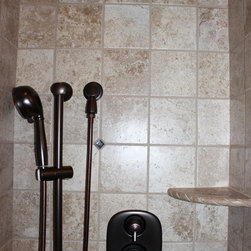 Old World Guest Bathroom - Medina, OH #1 - In this bathroom renovation we used Sonoma Reserve Tile collection.