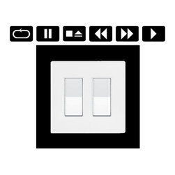 StickONmania - Lightswitch Music Player Sticker - A cool sticker for a  lightswitch panel. Decorate your home with original vinyl decals made to order in our shop located in the USA. We only use the best equipment and materials to guarantee the everlasting quality of each vinyl sticker. Our original wall art design stickers are easy to apply on most flat surfaces, including slightly textured walls, windows, mirrors, or any smooth surface. Some wall decals may come in multiple pieces due to the size of the design, different sizes of most of our vinyl stickers are available, please message us for a quote. Interior wall decor stickers come with a MATTE finish that is easier to remove from painted surfaces but Exterior stickers for cars,  bathrooms and refrigerators come with a stickier GLOSSY finish that can also be used for exterior purposes. We DO NOT recommend using glossy finish stickers on walls. All of our Vinyl wall decals are removable but not re-positionable, simply peel and stick, no glue or chemicals needed. Our decals always come with instructions and if you order from Houzz we will always add a small thank you gift.