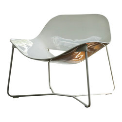 ModLoft - Oakley Lounge Chair - Oakley lounge chair features painted stainless steel frame with matching lacquer seating.