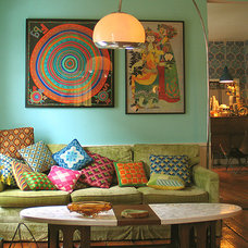 Eclectic  living room - portland, maine - wary meyers decorative arts