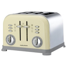 traditional toasters Morphy Richards Accents 44038 4 Slice Toaster, Cream