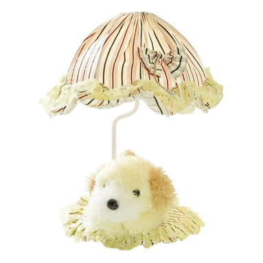 Lite Source - Lite Source Puppy Accent Kids Table Lamp X-WLY0906-KI - Navy blue and red stripes are paired with a light yellow hue, creating a neutral look to this Lite Source kids table lamp. This kids accent lamp from the Puppy Collection also features a bow and lace detailing. The coordinating fabric base comes with a removable puppy for added charm and whimsy.
