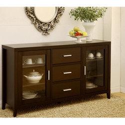 Furniture of America Metropolitan Dining Buffet/TV Cabinet in Dark Espresso -