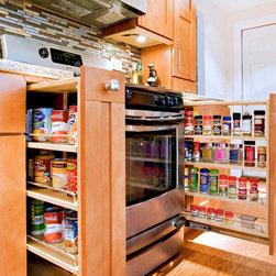Transitional Kitchen - Beech - Beech wood | Mesa Flat door | Custom Burnt Sienna finish