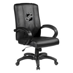 Dreamseat Inc. - NHL Logo Home Office Chair - Check out this Awesome - it's one of the coolest things we've ever seen. Features a zip-in-zip-out logo panel embroidered with 70,000 stitches. Converts from a solid color to custom-logo furniture in seconds - perfect for a shared or multi-purpose room. Root for several teams? Simply swap the panels out when the seasons change. This is a true statement piece that is perfect for your Man Cave or Home Office, and it's a must-have for the person who wants to personalize their work space.