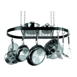 Range Kleen-petra - Range Kleen Oval Pot Rack - Oval Pot Rack (Black). Includes 8 Pot HooksBrand: Range Kleen. RKNCW6000R. Complete Installation Hardware. Includes Assembly & Care Instructions. BlackProduct Class: Electronics-OtherUPC: 70775182195Manufacturer's Warranty: One Year. Dim: 33 in. W X 17 in. D x  1.5 in. H