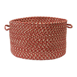 Colonial Mills - Belmont Storage Basket, Red Brick - Organize magazines, yarns, toys or towels at the pool with this red brick braided storage basket. Made in the USA of durable polypropylene and built for indoor or outdoor use.