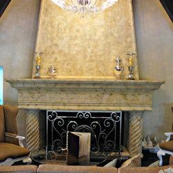 Cast Stone Fireplace Mantel -