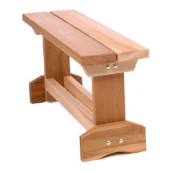 All Things Cedar - CEDAR Picnic Table End Bench - Increase your picnic table seating capacity with our 30 inch Cedar End Bench - seats 1 adult or 2 small children comfortably. : DIMENSIONS : 30w x 12d x 18h --- SEAT : 29w x 11d x 18h (unassembled kit)