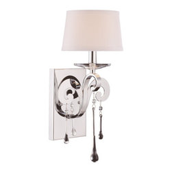 Savoy House - Niva Wall Sconce - Who ever said earrings should only dangle from ears? This glamorous sconce proves that jewelry can also drip from your wall.