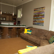 Contemporary Family Room by Whitney Lyons