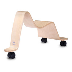 Svan Scooter - Parents will love the sleek lines and style; kids will love the fun! The classic Scandinavian style of the Svan Chair is now available as a ride-on toy for your toddler. The sculpted curves of the bent birch wood Svan Scooter provide a safe and sturdy seat for children 18 to 36 months in age.