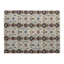 Area Rug, 8'X10' Soumak Ikat Design Flat Weave 100% Wool Hand Woven Rug SH9465 - Soumaks & Kilims are prominent Flat Woven Rugs.  Flat Woven Rugs are made by weaving wool onto a foundation of cotton warps on the loom.  The unique trait about these thin rugs is that they're reversible.  Pillows and Blankets can be made from Soumas & Kilims.
