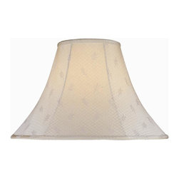 Lite Source - Leaf Jacquard Bell Shade (7 in. Dia.) - Choose Size: 7 in. Dia.. 6 in. Shade:. Shade top: 6 in. Dia.. Shade bottom: 16 in. Dia.. Shade height: 12 in.. Weight: 2 lbs.. 7 in. Shade:. Shade top: 7 in. Dia.. Shade bottom: 18 in. Dia.. Shade height: 12.5 in.. Weight: 2.5 lbs.