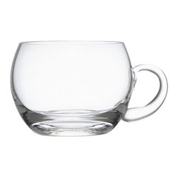 Virginia 9oz. Punch Cup - Generous globe-shaped glass cups have comfortable handles. Stock up to refresh a whole crowd.