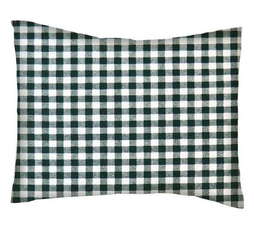 SheetWorld - SheetWorld Twin Pillow Case - Percale Pillow Case - Hunter Green Gingham Check - Pillow case is made of a durable all cotton percale/woven material. Fits a standard twin size pillow. Side Opening. Features a hunter green gingham check print.
