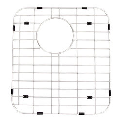 ALFI brand - ALFI GR512R Stainless Steel Protective Grid for AB512 Kitchen Sink - Protect your investment with this solid stainless steel grid that sits on the bottom of your fireclay sink. Protects the sink from nicks or cracks caused by heavy pots or pans dropped in, reduces the need for cleaning marks or stains of the bottom of the sink.