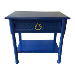 Vintage Blue 1-Drawer Side Table - $899 Est. Retail - $299 on Chairish.com -