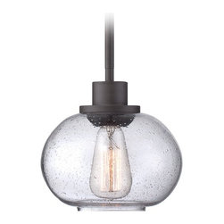 Quoizel Lighting Trilogy Old Bronze Mini-Pendant Light with Bowl / Dome Shade -
