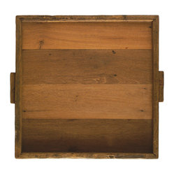 Reclaimed Wood Tray, Square XL