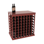 """Wine Racks America - Double Deep Tasting Table Wine Rack Kit with Butcher Block Top in Pine - The quintessential wine cellar island; this wooden wine rack is a perfect way to create discrete wine storage in open floor space. Includes a 35"""" Butcher Block Top that helps you create an intimate tasting table. With an emphasis on customization, install LEDs or add a culinary grade Butcher's Block top to create intimate wine tasting settings. We build this rack to our industry leading standards and your satisfaction is guaranteed."""