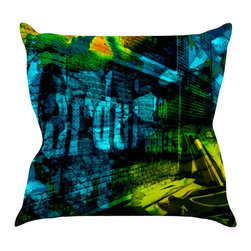 "Kess InHouse - Claire Day ""Radford"" Throw Pillow (16"" x 16"") - Rest among the art you love. Transform your hang out room into a hip gallery, that's also comfortable. With this pillow you can create an environment that reflects your unique style. It's amazing what a throw pillow can do to complete a room. (Kess InHouse is not responsible for pillow fighting that may occur as the result of creative stimulation)."