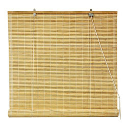 Oriental Unlimted - Bamboo Roll Up Blinds in Natural (36 in. Wide - Choose Size: 36 in. WideBamboo roll up blinds are a versatile addition to any window. They will fit in with any decor. Easy to hang and operate. 24 in. W x 72 in. H. 36 in. W x 72 in. H. 48 in. W x 72 in. H. 60 in. W x 72 in. H. 72 in. W x 72 in. H