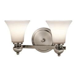 "Kichler - Kichler 45047CLP Sheila 16"" Wide 2-Bulb Bathroom Lighting Fixture - Product Features:"