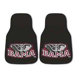 Fanmats - Fanmats Alabama 2-piece Carpeted Nylon Car Mats - Roll tide! Bring the Bama spirit everywhere you go with this fantastic Crimson Tide car mat set. With a universal fit you can be assured these mats will fit in your car, truck, SUV or even RV. Because its made of nylon, you also know itll last.