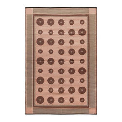 Achla - Spice Dots Floor Mat - Color the ground you walk or sit on with these polyurethane woven floor mats. Spread them out at the beach, on the porch, floors in the kitchen and childrens rooms or hang them on the wall. Soft on the feet and easy to wipe clean. We recommended using carpet tape to hold them in place indoors. Our mats are made to last, but like everything else, we need to take good care of them. Ideally they should be kept rolled when not in use. Try to avoid leaving mats exposed to sun or rain for long periods of time. Wash by hand and allow to drip dry. Polyurethane, woven floor mats. Used both Indoor and Outdoor. Construction Material: Plastic. No Assembly Required. 48 in. W x 72 in. D x 0.25 in. H (3 lbs.)