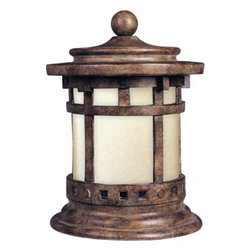 Maxim Lighting - Maxim Lighting 85032MOSE Santa Barbara EE 1-Light Outdoor Deck Lantern - Santa Barbara EE is a traditional, craftsman/mission style, energy saving collection from Maxim Lighting International in Sienna finish with Mocha glass.