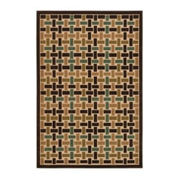 Couristan 5748-0148 Urbane Sand Indoor/Outdoor Rug - The Couristan 5748-0148 Urbane Sand Indoor/Outdoor Rug is positively playful and we think you'll quickly want in on the game! Machine-made of high-quality polypropylene this delightful home decor accessory is designed for indoor and outdoor use. It's durable enough to withstand the elements but still cozy enough to grace your living space. It features a unique geometric design in refreshing tones of teal brown olive and cream that will reinvigorate a wide variety of modern and traditional decors. Just be sure and spot-clean only. Only one question remains: are you ready to play?About Couristan RugsThe renowned Couristan Rug Company is headquartered in Fort Lee New Jersey. The company continues to take great pride in its 78 year-old commitment to excellence by weaving four key components - Trust Style Quality and Innovation into each and every product it imports or manufactures. This commitment has earned the company a long-standing and successful position in the floor covering industry while providing its customers with the highest levels of design value and customer service.