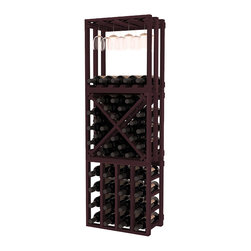 Wine Racks America - Lattice Stacking Cube - 3 Piece Set in Premium Redwood, Burgundy Stain - Designed to stack one on top of the other for space-saving wine storage our stacking cubes are ideal for an expanding collection. This 3-piece set comes with (1) X-Cube, (1) Stemware Cube and (1) 4 Column Cubicle. Use as a stand alone rack in your kitchen or living space or pair with more stacking cubes as your wine collection grows.