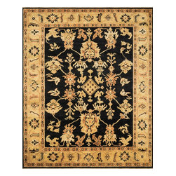 """Loloi Rugs - Loloi Rugs Morrow Collection - Black/Light Gold, 4'-0"""" x 6'-0"""" - The Morrow Collection marries classic traditional patterns with 100% hand-dyed New Zealand wool in a highly durable hand-knotted construction from India. Available in four timeless designs, Morrow's rich colors and fine hand-crafted construction addeverlasting character and upscale appearance to any interior space."""