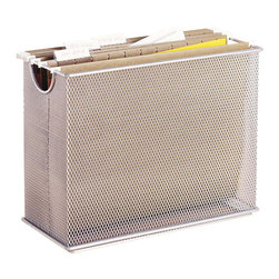 Design Ideas - Mesh Desk File Organizer - Silver - Your desk will become an organization station with our silver mesh Desk File Organizer.