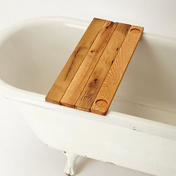 Peg & Awl - Vestige Bathtub Caddy - It's no secret that a good book, a glass of wine and a hot bath are many people's happy place. A tub tray like this helps alleviate anxiety about spillage or dropping your library book in the water.