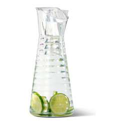 Frieling - Wave Carafe - Get all the clean refreshment of your favorite chilled beverage and none of the extra bits. This attractive carafe features a strainer near the spout, which helps contain ice cubes, seeds or pulp.