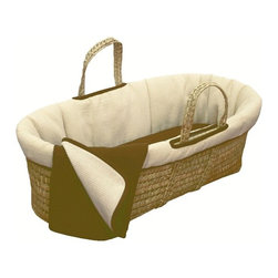 Tadpoles Moses Basket Organic Set - Cocoa - Babies spend so much time sleeping, so keep them safe and warm in this adorable Moses Basket. I used a bassinet with my child years ago, but I would have considered this basket if I had known about it. Plus, it's made of a soft terry waffle fabric and 100-percent-certified organic cotton.