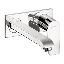Hansgrohe - Hansgrohe 31086001 Metris E Wall Mounted Single Handle Faucet Trim in Chrome - Wall Mounted Single Handle Faucet Trim in Chrome belongs to Metris Collection by Hansgrohe Founded in Germany's Black Forest in 1901, Hansgrohe is committed to building a strong sense of tradition. Hansgrohe's products offer a lifetime of satisfaction featuring the ultimate in quality, design and performance. Customers appreciate our many breakthroughs in comfort and technology that allow you to make the most of water. With its wide range of products, Hansgrohe has the right solution for you. Enjoy every moment, each one is unique, just like your Hansgrohe shower. Hansgrohe has always had a sharp eye for innovation, designing products with exceptional durability that are not only highly functional but also a source of pleasure. For us, this means constantly advancing and striving for improvements. Our showers and faucets offer many useful functions and details that make daily use as easy and comfortable as possible so that you can enjoy your Hansgrohe products for many years to come.  Faucet (1)