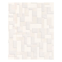 Graham and Brown - Checker (Nonwoven) Wallpaper - White - Taking its inspiration from modern architecture and a mix of contrasting textures and surfaces. Checker features multi-layering textures and shadow for an exaggerated 3D geometric effect. This product is non-woven paste-the-wall making it easier to hang and remove.