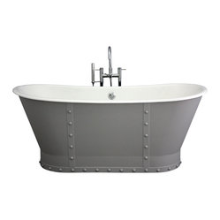 "The Abingdon 68"" Long Cast Iron Bathtub Package from Penhaglion"