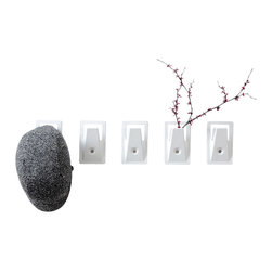 Misewell - captain coat hook, White - Clean lines and efficient use of material make the Captain hook stand out. An innovative stamping process creates little waste by producing nearly 300 coat hooks from a single 4'x8' sheet of steel. Available in black or white.