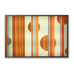 jefdesigns - 'Legna 3' Limited Edition Lightbox Painting - Add a little mood lighting to your space with some mod dots that really pop. This amazing piece of artwork lights up your modern home or office with the subtle glow of fluorescent tube lights.