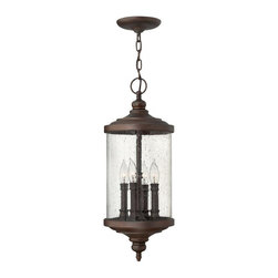 Hinkley - Hinkley Barrington 4-Light Victorian Bronze Hanging Lantern - 1752VZ - This 4-Light Hanging Lantern is part of the Barrington Collection and has a Victorian Bronze Finish. It is Outdoor Capable.
