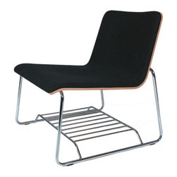 OFFI Perch Lounge - This stylish lounge chair has an ingenious feature that must have been inspired by school desks – a shelf underneath for storing those books and magazines you'll want to peruse while sitting there (or perhaps your iPad, for when you cruise through Houzz photographs!).