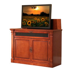 Touchstone Home Products - Adonzo Distressed Cherry TV Lift Cabinet for Flat Screen up to 60 ...