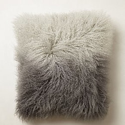 "Anthropologie - Ombre Luxe Fur Pillow - Side zipMongolian sheepskin, wool; polyfillSpot clean16"" squareImported"